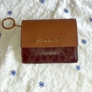 Michael Kors Card Holder W/ Key Ring